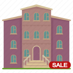 apartment, building, home, house, sale icon
