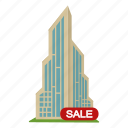 apartment, home, office, sale, skyscraper, tower icon