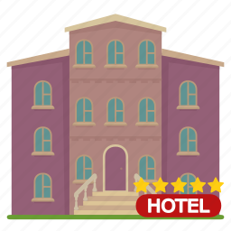 apartment, building, home, hotel, house icon