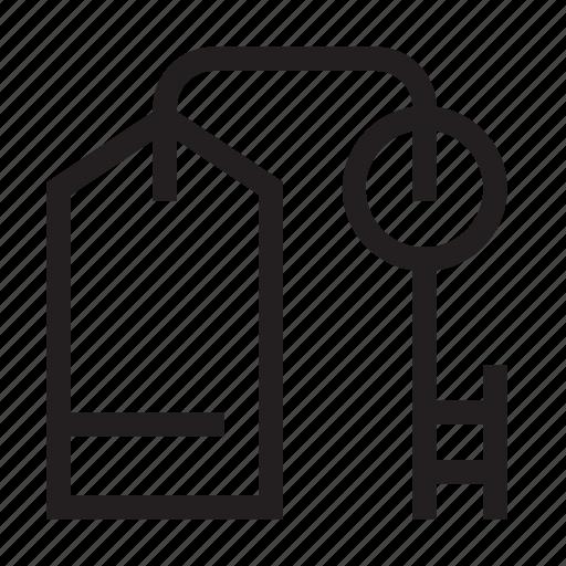 hotel, key, room icon