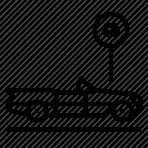 car, lot, parking icon