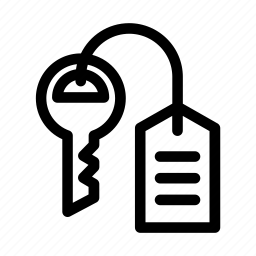 hotel, key, service, stay, travel icon