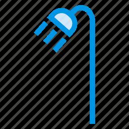 bath, bathroom, rain, shower, showering, washing, water icon