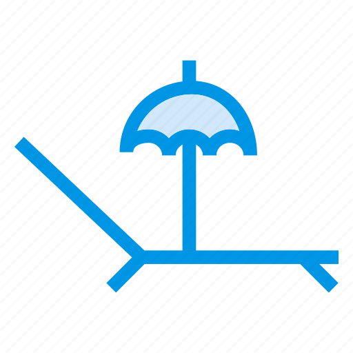 beach, beachchair, beachumbrella, picnic, relaxation, summer, umbrella icon