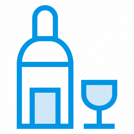 Bar, alcohol, drink, glass, beer, bottle, wine icon
