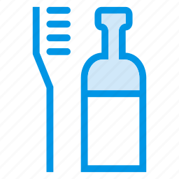 bottle, brush, cleaning, cleaningteeth, home, teeth, toothbrush icon