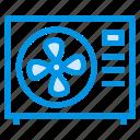 appliances, cooling, deskfan, device, fan, home, turbine icon