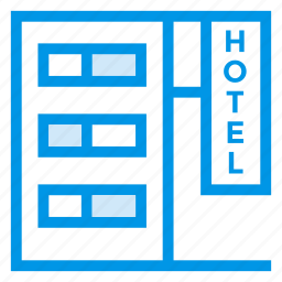 commercial, hostel, hotel, hotelbuilding, hotelservice, restaurant, tower icon