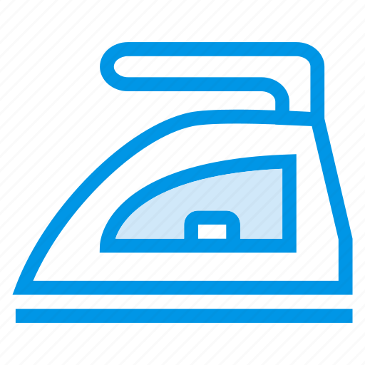 clothing, electric, households, housework, instruments, iron, ironing icon