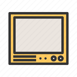 cabinet, old, picture, room, screen, television, tv icon