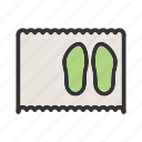 carpet, door, doormat, floor, home, mat, shoe icon