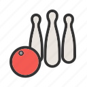 ball, bowl, bowling, pins, play, sport, throw