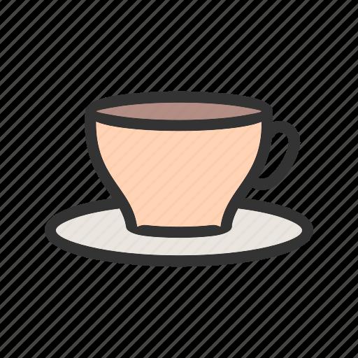 coffee, drink, kitchen, mug, saucer, tea cup, utensil icon