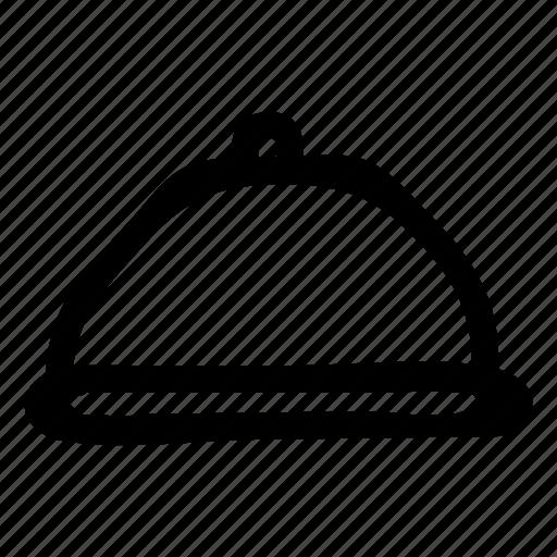 cover, dishlid, hotel, kitchen, kitchenware, platter, restaurant icon