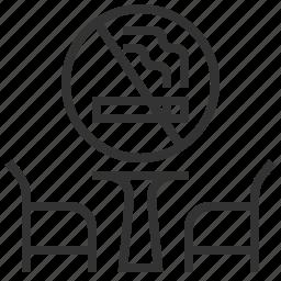 area, no, sign, smoking icon