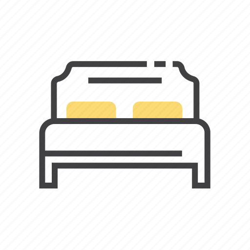 bed, double, furniture, hotel icon