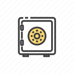 box, deposit, safe, secure, security icon