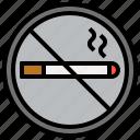 cigarette, forbidden, no, prohibition, signaling, signs, smoke icon