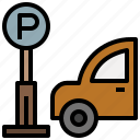 automobile, parking, sign, signs, vehicle icon
