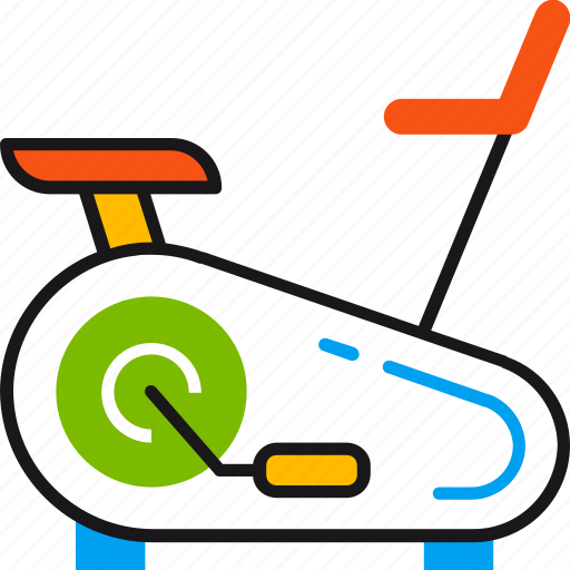 equipment, exercise, exercise bike, fitness, gym, sport, training icon