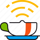 connection, cup, free, internet, service, signal, wifi icon