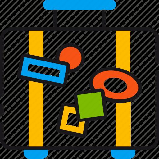 bag, baggage, holiday, luggage, suitcase, tourism, travel icon