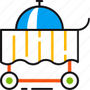 cart, delivery, dinner, eat, room, service icon
