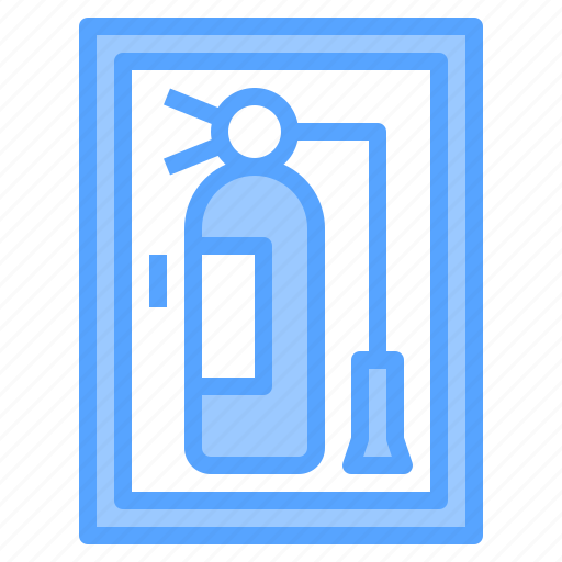 extinguisher, fire, hotel, person, service, travel, work icon