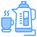 hotel, kettle, person, service, staff, travel, work icon