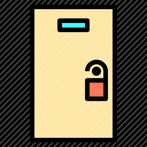 door, hotel, person, service, staff, travel, work icon