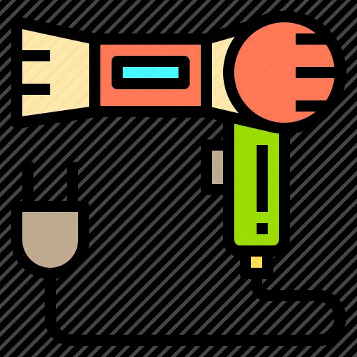 dryer, hair, hotel, person, service, travel, work icon