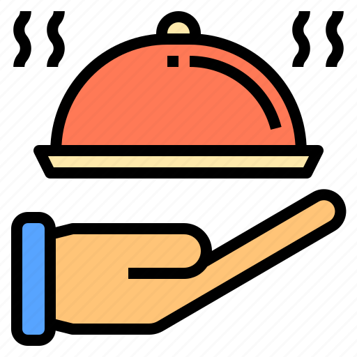 hotel, meal, person, service, staff, travel, work icon