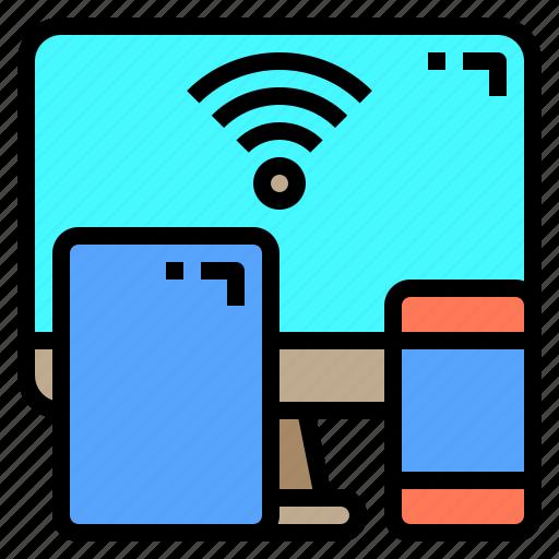 hotel, person, service, staff, travel, wifi, work icon