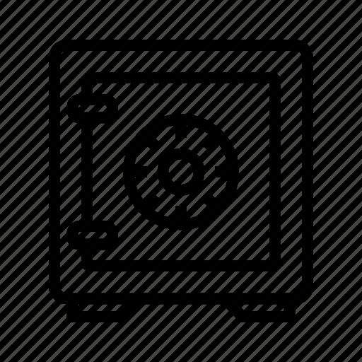 bank, bank locker, finance, money, safe, safe box icon