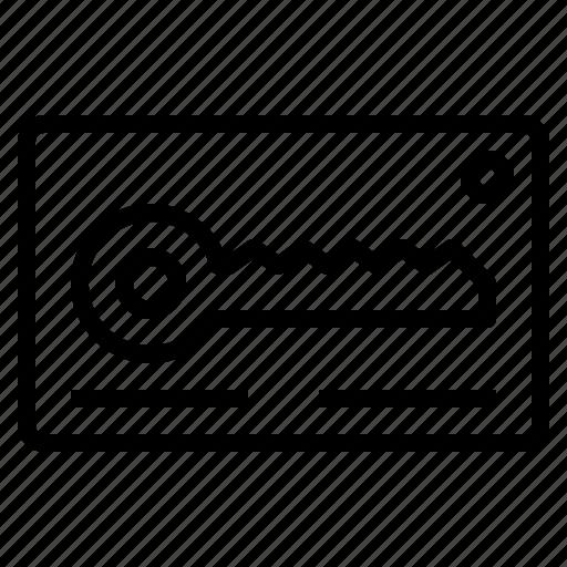 hotel, keycard, person, service, staff, travel, work icon