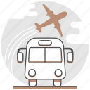 airport, bus, hotel, resort, service, shuttle, transfer icon