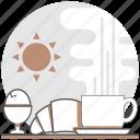 breakfast, food, hostel, hotel, resort, restaurant, services icon