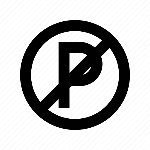 no parking, parking ban, parking not allowed, prohibition, road sign icon