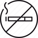 non, rooms, smoking, cigarette, forbidden, prohibited icon
