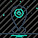 destination, location pin, mark, navigation, pointer, scene, venue icon