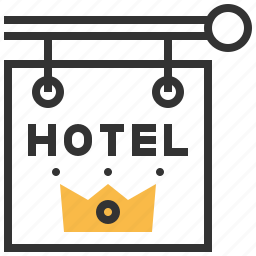 business, hotel, service, sign, support icon