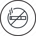 area, hotel, line, no-smoking, room, services icon