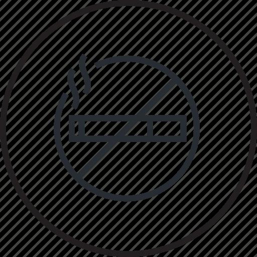 area, hotel, line, no-smoking, room, services icon