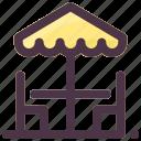 outdoor, patio, summer, terrace, umbrella icon