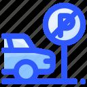 car, parking, sign, transportation, travel icon
