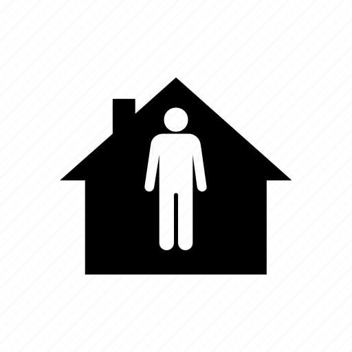 Security Hut Symbol: Home, House, Hut, Mortgage, Owner, Single, Tenant Icon