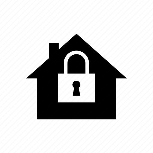 house, lock, safety, security icon