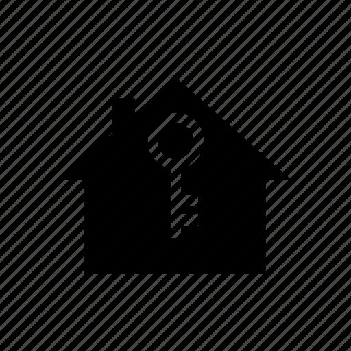 house, key, safety, security, unlock icon