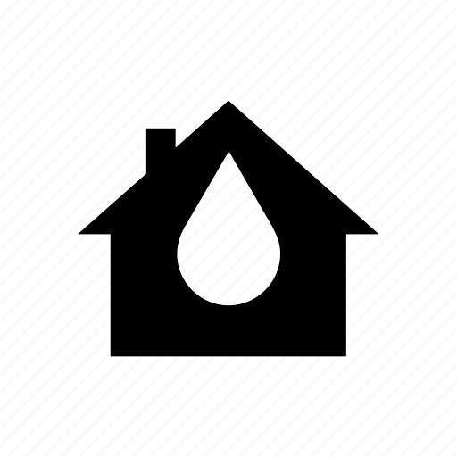 consumption, drop, flood, house, leak, supply, water icon
