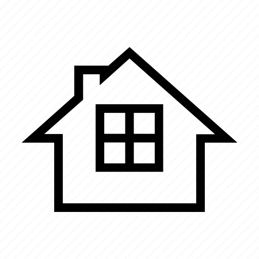 bricolage, construction, house, property, real estate, window icon